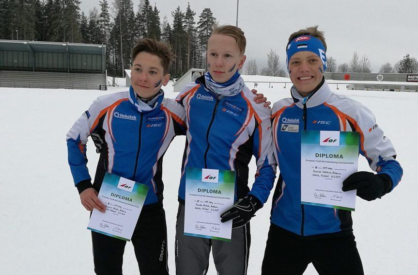 Sander Pritsik,Ragnar Rooba ja Kaarel Vesilind said EMi teates 4.koha