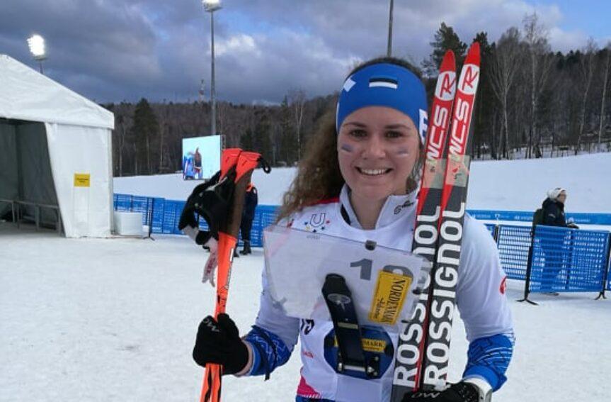 Epp Paalberg tõusis taliuniversiaadil jälitussõidus 14. kohale