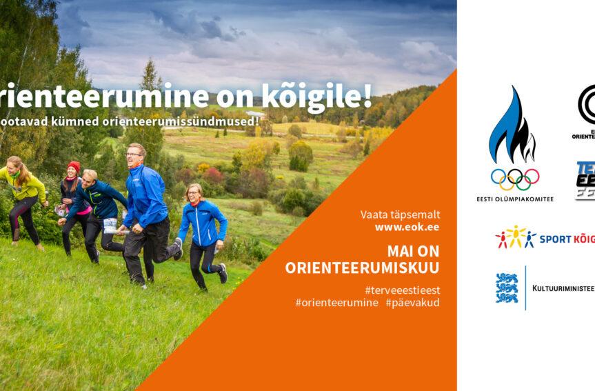 Mai on Eesti Olümpiakomitee orienteerumise teemakuu
