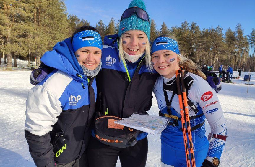 Eesti suusaorienteerumise naiskond saavutas MK-etapil teatesõidus 5. koha
