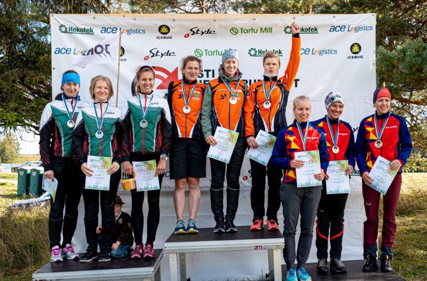 Ka naiste teatejooksus tuli Eesti meistriks OK Võru võistkond
