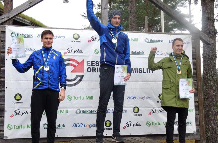 Eesti meistrid orienteerumise pikal rajal on Eleri Hirv ja Kristo Heinmann