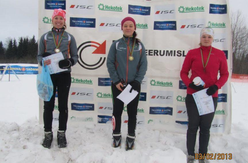 Daisy Kudre tuli Eesti meistriks suusaorienteerumise tavarajal