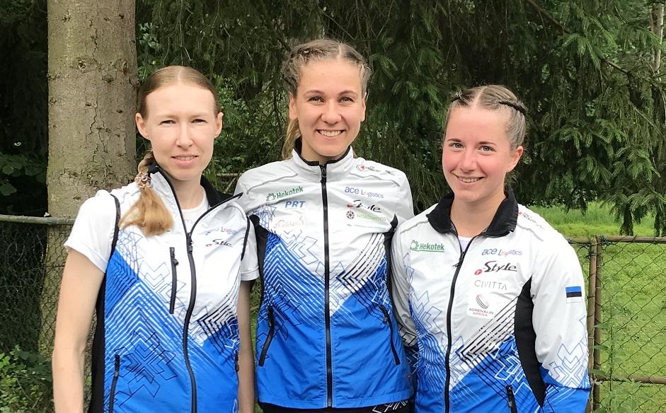 Eesti naiskond MMi teatejooksus 13.