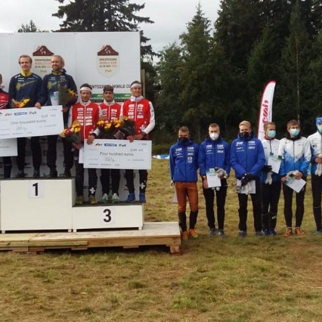 Eesti meeskond saavutas MK-etapil teatejooksus kõrge viienda koha